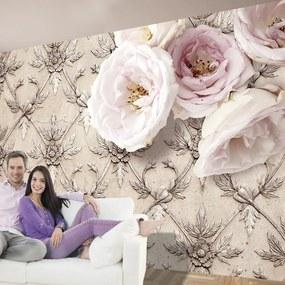 Fototapeta Bimago - Romantic beige + lepidlo zadarmo 300x210 cm