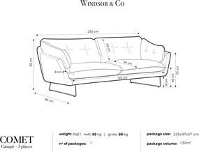 WINDSOR & CO Trojmiestna pohovka Comet