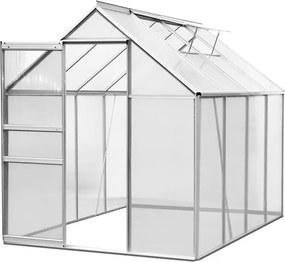 Jurhan & Co.KG Germany Záhradný skleník z polykarbonátu Aluminium M3 - 250 x 190 x 190 cm