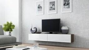 CAMA MEBLE Vigo 180 tv stolík na stenu latte / biely lesk