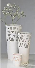 Váza CONSTRUCTION M - biela