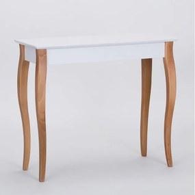 Biely odkladací stolík Ragaba Console, dĺžka 85 cm