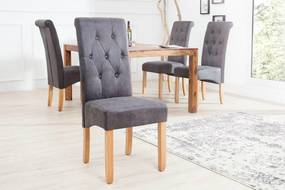 Jedálenská stolička Clemente Vintage sivá