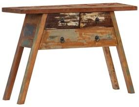vidaXL Konzolový stolík 110x30x75 cm recyklovaný masív