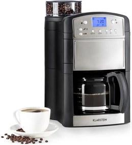 Klarstein Aromatica kávovar, mlynček, 10 šálok, sklená kanvica, aróma+, ušľachtilá oceľ