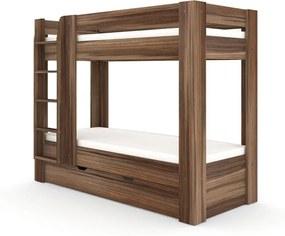 DREVONA09 Poschodová posteľ REA PIKACHU orech rockpile, ľavá