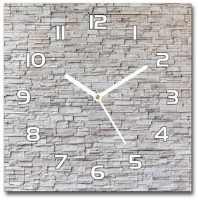 Sklenené hodiny na stenu Kamenná stena pl_zsk_30x30_f_83343347