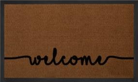 Hanse Home Collection koberce Protiskluzová rohožka Printy 103794 Lightbrown Anthracite - 45x75 cm