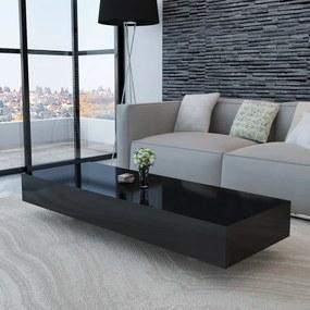 vidaXL Konferenčný stolík, lesklý, čierny