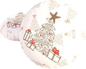 Dekoračný vankúšik s výplňou Christmas biela