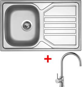 Set Sinks OKIO 800 V matný + batéria VITALIA