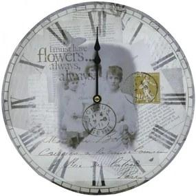 Eglo Eglo 41186 - Nástenné hodiny Vintage pohlednice EG41186