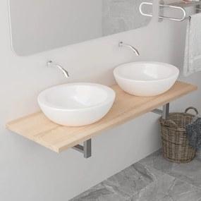 vidaXL Kúpeľňový nábytok, dub 120x40x16,3 cm