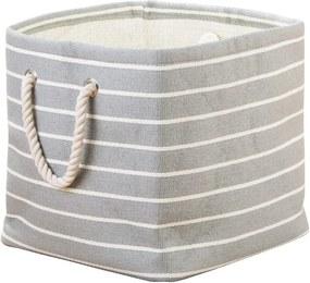 Sivý úložný box InterDesign Luca, 29,5 × 29,5 cm