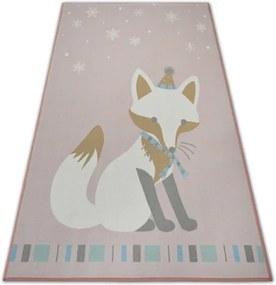 MAXMAX Detský kusový koberec Líštičky - ružový