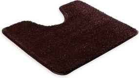 Škodák Kúpeľňová / WC predložka s výkrojom - vzor Pirlanta tmavo hnedá - 60x50cm