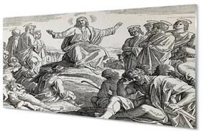 Nástenný panel Ježiš kreslenie ľudia 125x50cm