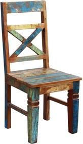 Bighome - stolička IVILA - prírodná, viacfarebná