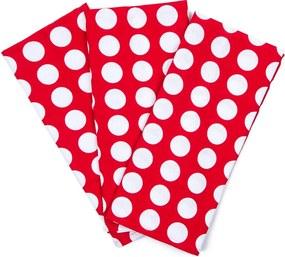 4Home Kuchynská utierka Červená bodka, 45 x 70 cm, sada 3 ks