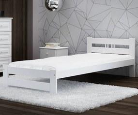AMI nábytok Postel borovice LUX VitBed 100x200cm masiv bílá