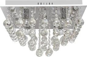 Helam Krištáľové stropné svietidlo CLARION SQUARE 5xE14/60W/230V HE0591