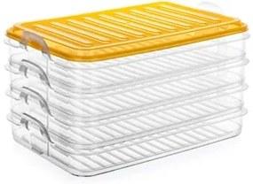 BANQUET Sada plastových stohovatelných dóz EASY CLICK 4ks