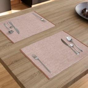 Goldea bavlnené rolovacie prestieranie na stôl - hnedé - 2ks 33 x 48 cm