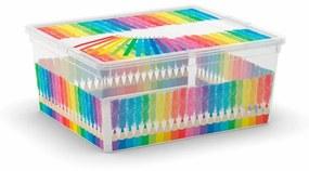 KIS Plastový úložný box C-Box Colours Arty M, 18 L