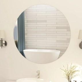 vidaXL Bezrámové zrkadlo okrúhle 90 cm sklo