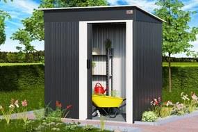 InternetovaZahrada - Záhradny domček A1 - antracit 181x162x86 cm