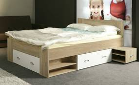 Posteľ s nočnými stolíkmi BEDS