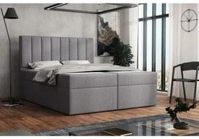 Čalúnená posteľ boxspring 120x200 SAMANTA - šedá 1