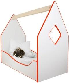 Detská posteľ domček červená