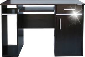 Moderný kancelársky počítačový stôl široký 120 cm so zásuvkou a skriňou - Buk