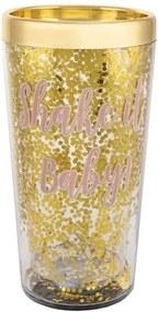 Šejker na koktaily zlatej farby Sass & Belle Prosecco