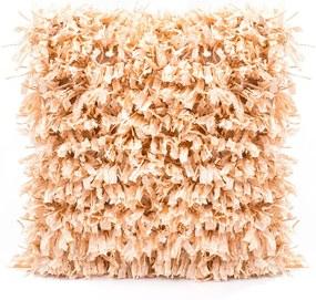 BO-MA Trading Obliečka na vankúšik Shaggy běžová, 45 x 45 cm