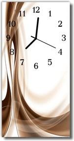 Nástenné hodiny vertikálne  Umelecké grafické čiary béžovej