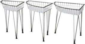 Chic Antique Záhradný stolík Fil de Fer - set 3 ks