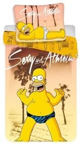 JERRY FABRICS Obliečky Homer Simpson beach Bavlna 140/200, 70/90 cm