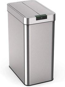 Bezdoteku Odpadkový kôš bezdotykový nerezový 2WINGS hranatý senzorový 49 L