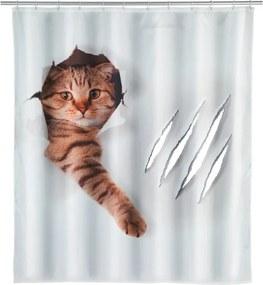 Sprchový záves Wenko Cat, 180 × 200 cm