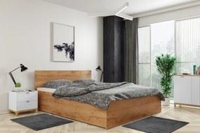 Široká posteľ (výklopná) PANAMAX 140x200cm DUB KRAFT