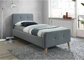 Čalúnená posteľ MALMO 90x200 cm sivá Matrac: Bez matrace