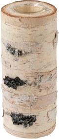 Prírodný svietnik z masívnej brezy J-Line, výška 25 cm
