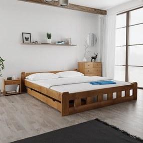 Maxi Drew Posteľ Naomi zvýšená 180 x 200 cm, dub Rošt: s latkovým roštom, Matrac: 2 ks matracov Economy 10 cm