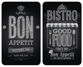 Sada 2 sklenených krytov na sporák Wenko Bon Appetit