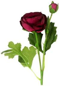 Umelá kvetina Ranunculus, fialová