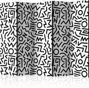 Paraván - Black and White Maze [Room Dividers] 225x172