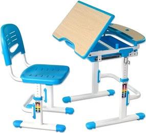 Fundesk Rastúci stôl SORRISO + stolička Farba: Modrá