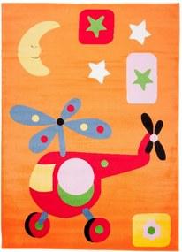 Detský kusový koberec Vrtuľník oranžový, Velikosti 80x150cm